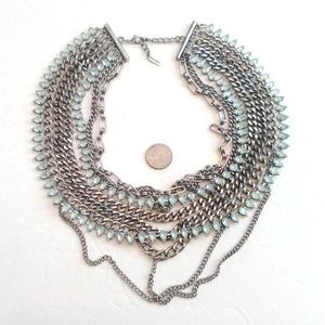Baublebar multichain pale blue statement necklace